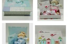 Cajas de los tesoros del bebé.