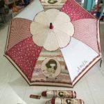 Paraguas granate de Anekke en bastón y plegable (automático y manual).