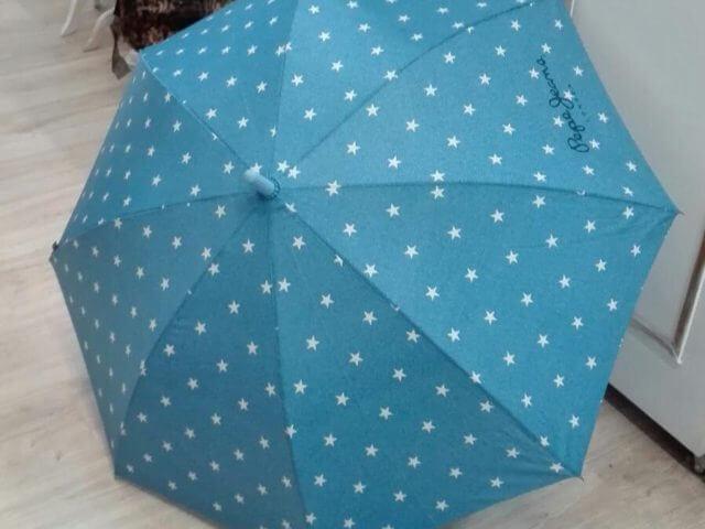 Paraguas plegable y de bastón automático.