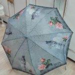Paraguas de bastón automático de Perletti. (Decoración Londres vintage)