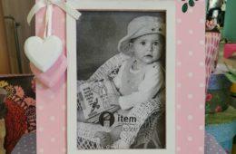 Marco de fotos personalizado con nombre (10X15 cm).