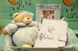 Canastilla de bebé personalizada a gusto.