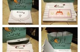 Libros de comunión con caja (personalizados con nombre y fecha).