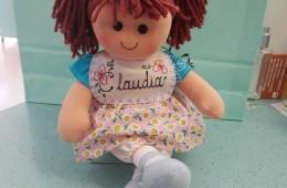 Muñeca de trapo con nombre.
