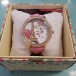 Reloj Miniworld de París en rosa.