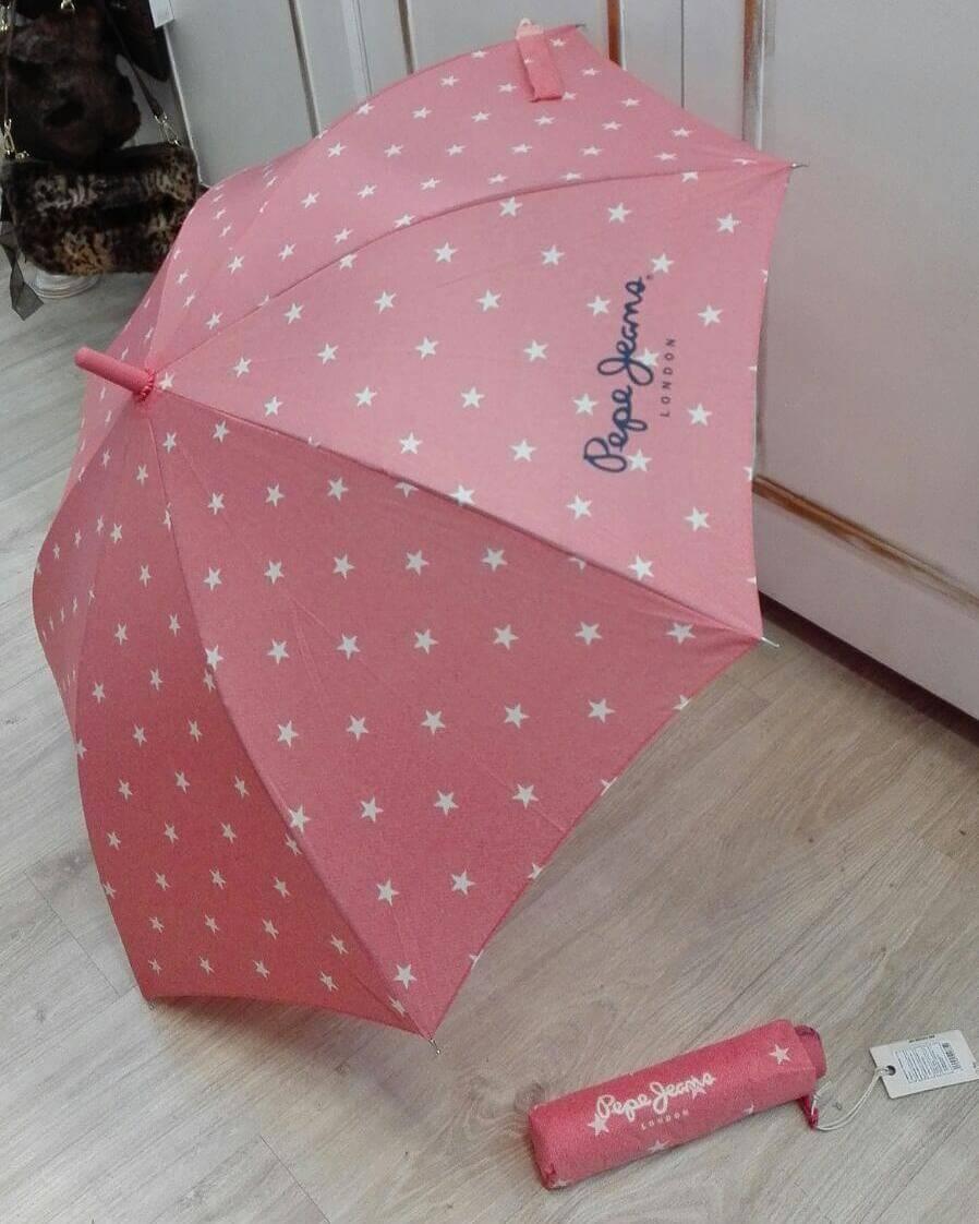 Paraguas bastón automático o plegables.