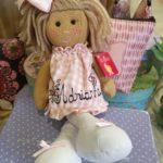 Muñeca de trapo de La Nina personalizada.