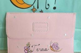 Portadocumentos para bebé Chocolat Baby rosa.