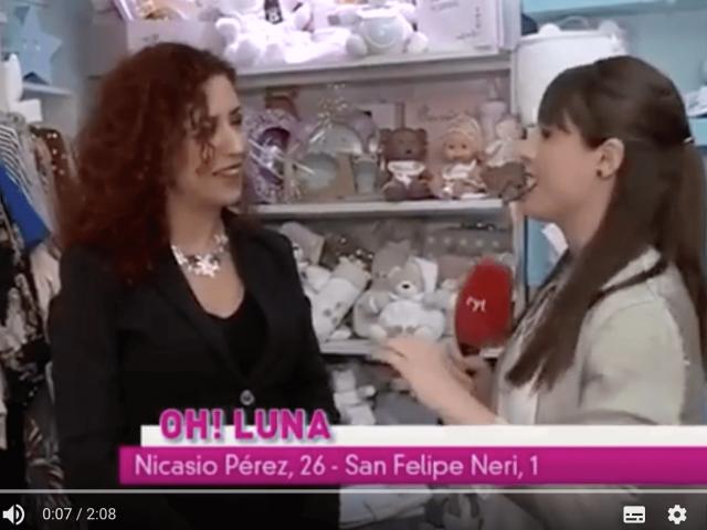 Presentación de Oh! Luna en el canal 8 de Valladolid