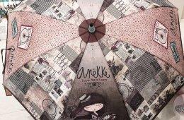 """Paraguas """"Anekke con caballito"""". Bastón, plegable y plegable automático."""