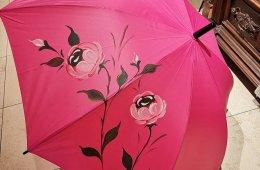 Paraguas de bastón pintado a mano.