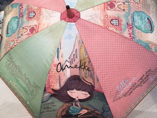 """Paraguas """"Anekke en Venecia"""". Bastón, plegable"""