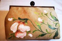 Bolso cartera pintado a mano