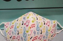 Mascarilla higiénica infantil notas musicales